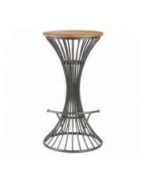 Industrial Foundary Hour Glass Bar Stool