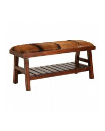 Brown Goat Hide Bench