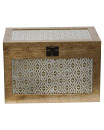 Vienna Antique Gold Diamond Trunk