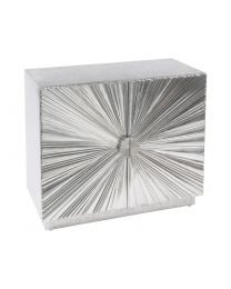 Starburst Hand Embossed Metal Small Cabinet