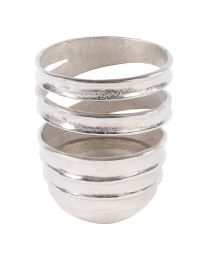 Silver Wide Aluminium Swirl Vase