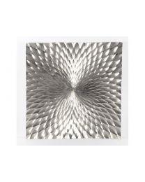 Square Starburst Silver Aluminium Wall Plaque