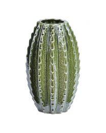 Large Green Ceramic Cactus Vase