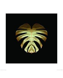 Gold Deco Monstera Framed Print By Alyson Fennell