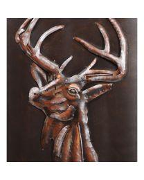 Stag Wall Art In Rust And Matt Black Finish