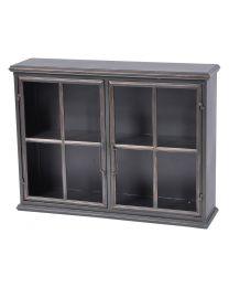 Moresby 2 Door Black Wall Cabinet
