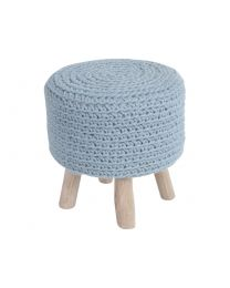 Nomad Blue Knitted Stool