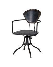 Black Iron Office Chair