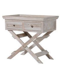 2 Drawer Trestle Hall Table