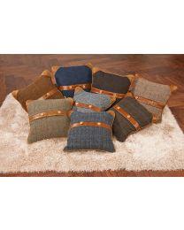 Bespoke Belt And Button Cushion