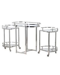 Derval Chrome Modular Bar Cart