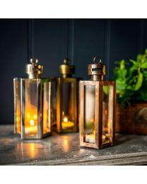 Signature Mini Quarry Lantern - Burnished Copper Finish