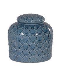 Blue Lidded Ginger Jar