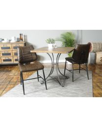 Adderstone Vegan Chestnut Faux Leather Chair set of 2