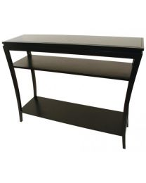 Rv Astley Black Console Table With 2 Shelves