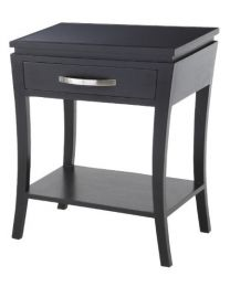 Rv Astley Modena Glass Top Black Side Table