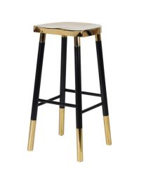 Classic Gold And Black Barstool