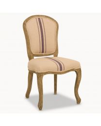 St James Oak Dining Chair With Blue Stripe