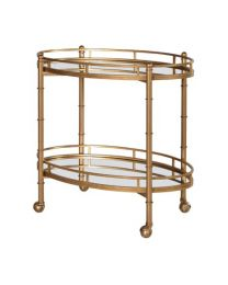 2 Tier Mirrored Drinks Trolley