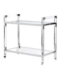 Acrylic And Glass Service Trolley