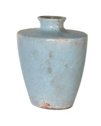 Small Blue Metallic Vase
