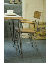 Belsay Retro Hairpin Dining Armchair
