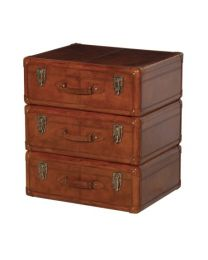 Jaipur Leather 3 Suitcase Chest