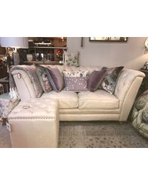 St James Soft Cream 2 Seater Button Back Sofa