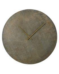 Antique Style Brass Textured Wall Clock