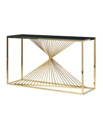Gold Twist Console Table