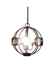 Signature Galaxy Ball Chandelier With Magnifying Glass - Antique Silver Finish