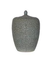 Khaki Dimple Jar