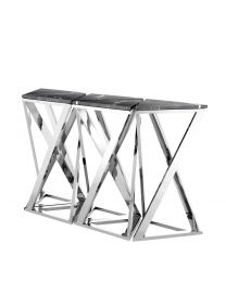 Eichholtz Console Table Galaxy Set Of 5 In Polished Steel