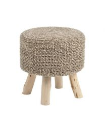 Nomad Taupe Knitted Stool