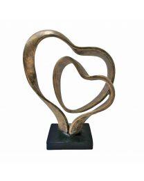 Double Heart Sculpture