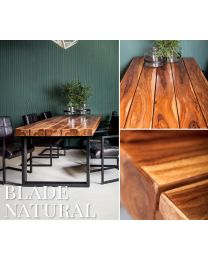 Blade Natural Sheesham Wood Dining Table