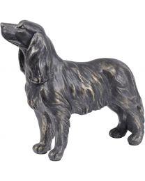 Antique Bronze Spaniel Sculpture