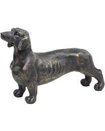 Antique Bronze Dachshund Sculpture