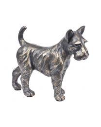 Antique Bronze Terrier Sculpture