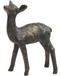 Antique Bronze Fawn Sculpture