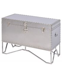 Duke Polished Stainless Steel Trunk