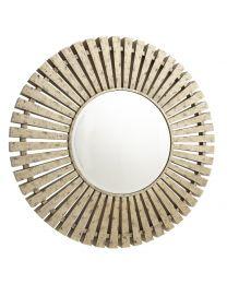 RV Astley Harbin distressed antique brass Finnish mirror