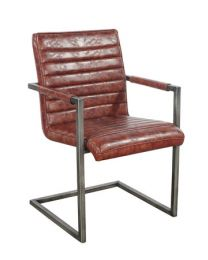 Aaryan Dining Chair In Brushed Iron