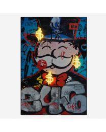 Andrew Martin Neon - Monopoly Man