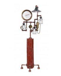 Antique Copper Steam Punk Floor Lamp