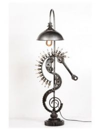 Upcycled Sea Horse Floor Lamp