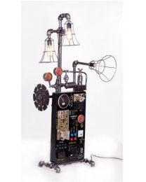 Industrial Inspired Adjustable Floor Lamp