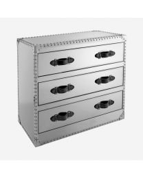 Andrew Martin Howard Steel/Steel Chest Of Drawers