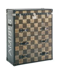 Andrew Martin Checkered Chest Of Drawers