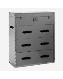 Andrew Martin Steel/Steel Chest Of Drawers